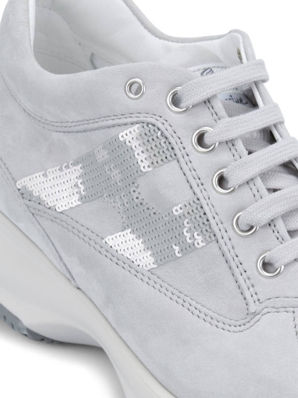 iKRIX HOGAN: Sneaker Fur Damen - Hellgrau