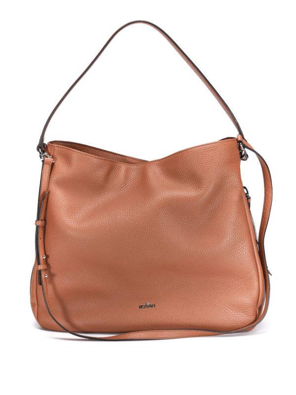 Hogan: shoulder bags - New Hobo calfskin bag