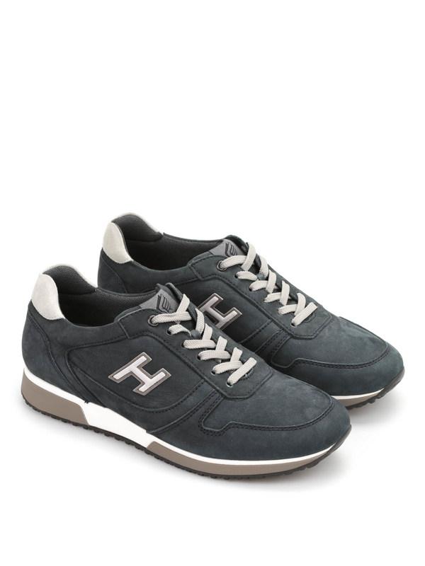 Hogan - H198 Slash H Flock Sneakers - trainers - HXM1980R9706XW457N