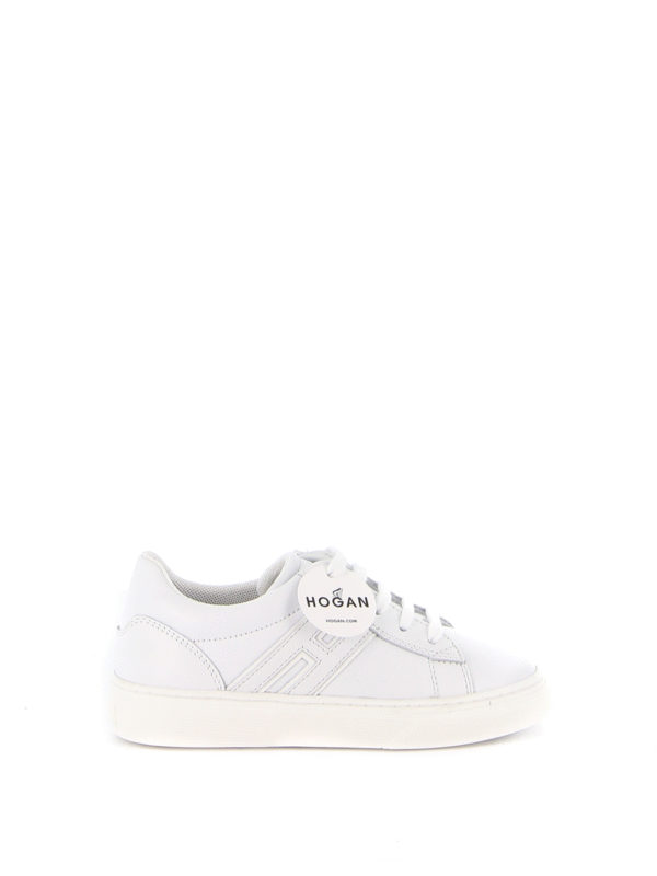 Hogan Junior - H365 white leather sneakers - trainers ...