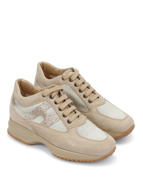 Hogan: Sneaker - Sneaker Fur Damen - Beige