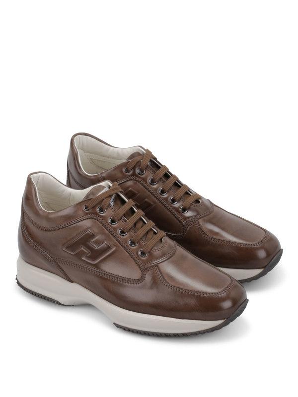 Hogan: Sneaker - Sneaker Fur Herren - Braun