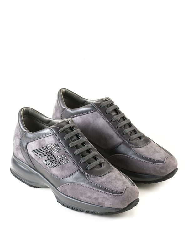 Hogan: Sneaker - Sneaker Fur Damen - Grau