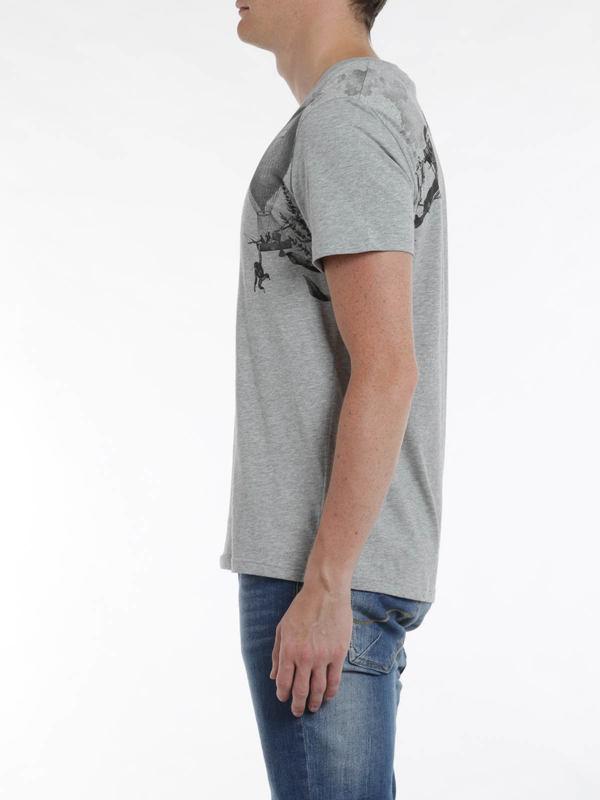 iKRIX Alexander Mcqueen: Harness print t-shirt