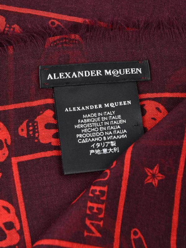 iKRIX Alexander Mcqueen: Schals - Schal - Dunkelrot
