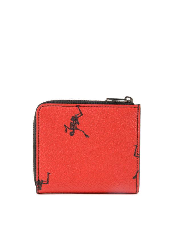 iKRIX ALEXANDER MCQUEEN: wallets & purses - Dancing Skeleton red coin case