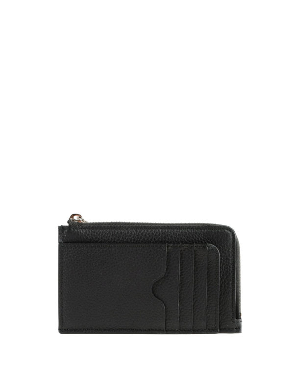 iKRIX ALEXANDER MCQUEEN: wallets & purses - Grain leather zipped coin case