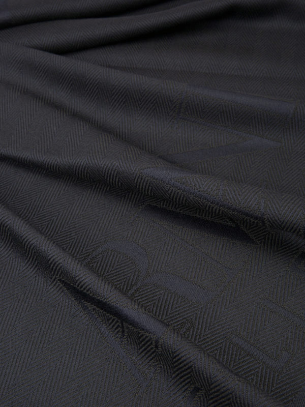 iKRIX ARMANI COLLEZIONI: scarves - Logo herringbone wool scarf