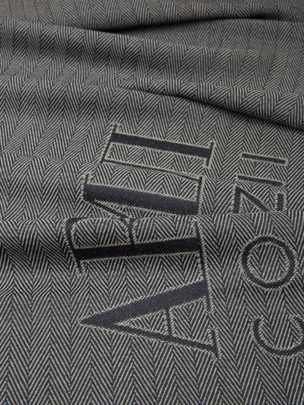 iKRIX ARMANI COLLEZIONI: scarves - Two-tone herringbone wool scarf