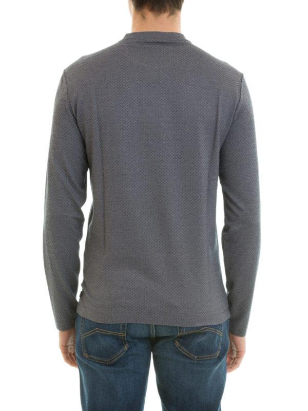 armani collezioni t shirt fur herren grau t shirts. Black Bedroom Furniture Sets. Home Design Ideas