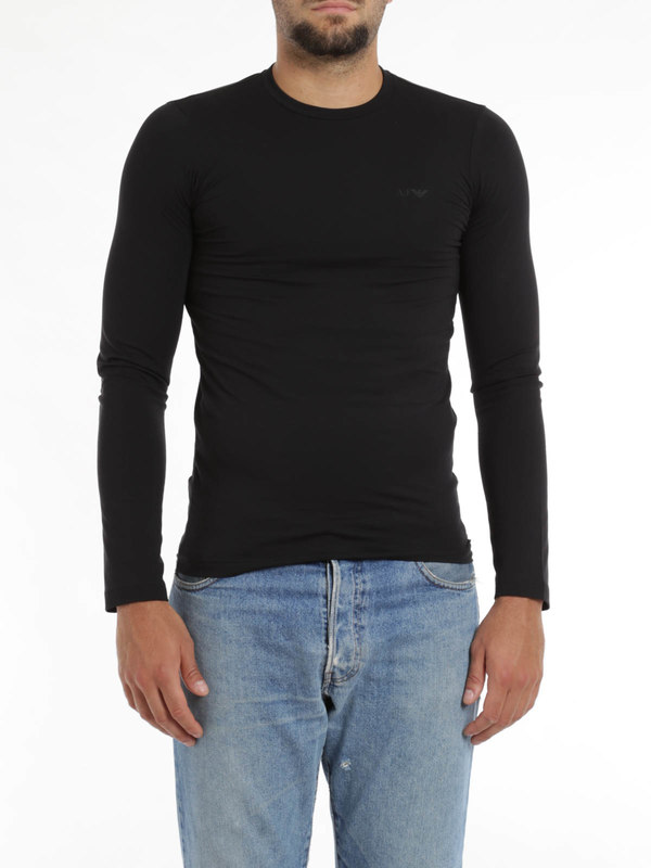 iKRIX Armani Jeans: T-shirts - Stretch jersey cotton top
