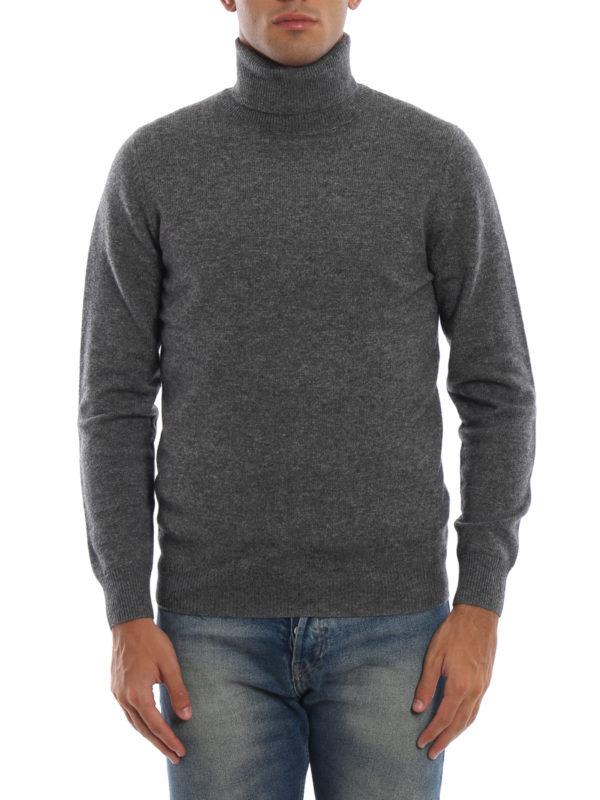 iKRIX ASPESI: Turtlenecks & Polo necks - Yak and cashmere blend grey turtleneck