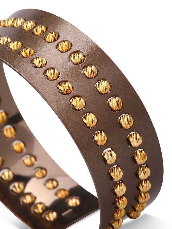 iKRIX Athomie: Bracelets & Bangles - Sterling silver bead cuff