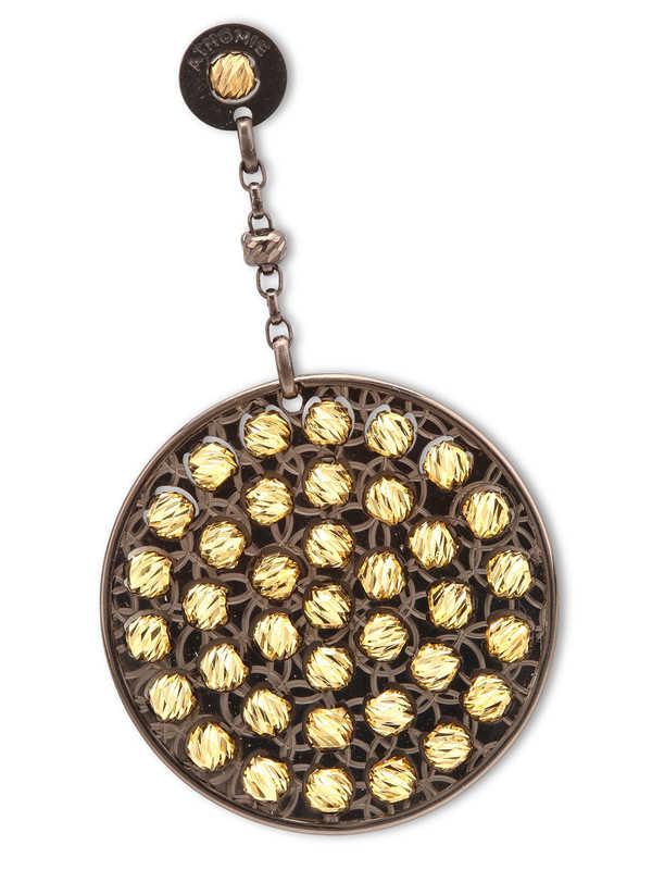 iKRIX Athomie: Earrings - Sterling silver bead disc earrings