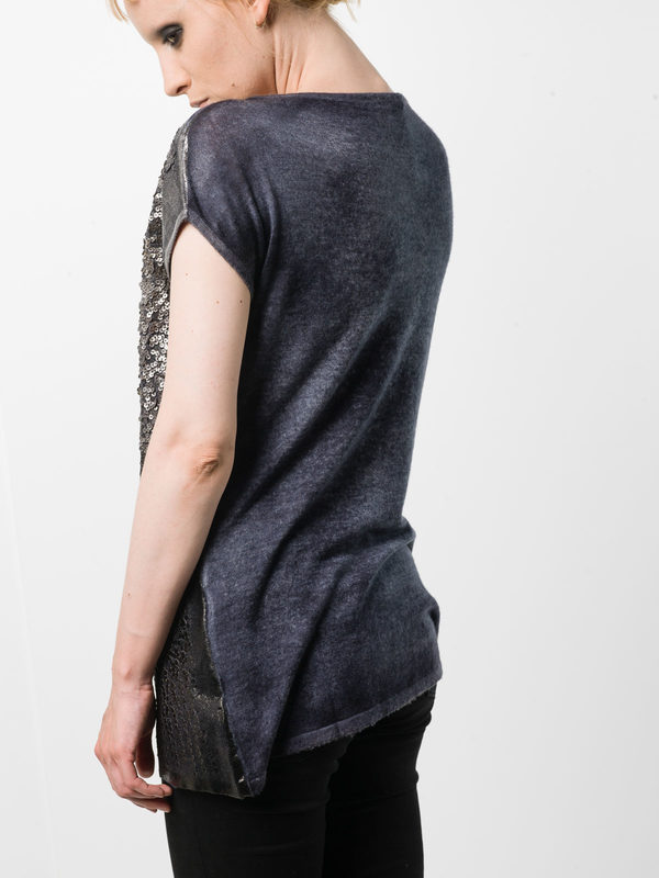 iKRIX Avant Toi: boat necks - Sleeveless sequined top