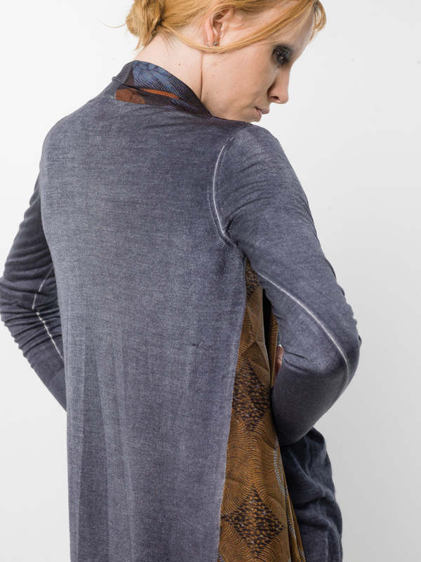iKRIX Avant Toi: Cardigans - Cardigan with draped foulard