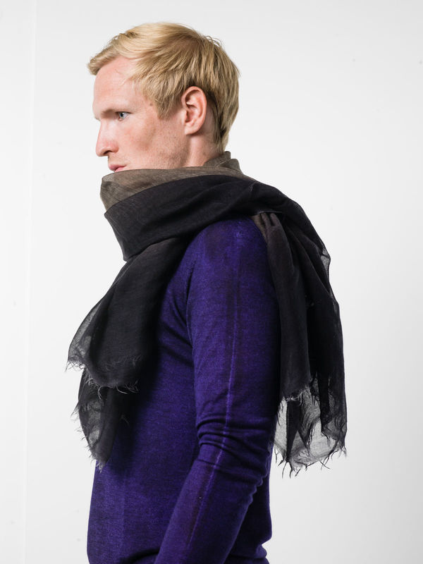 Bicoloured fading scarf shop online: Avant Toi