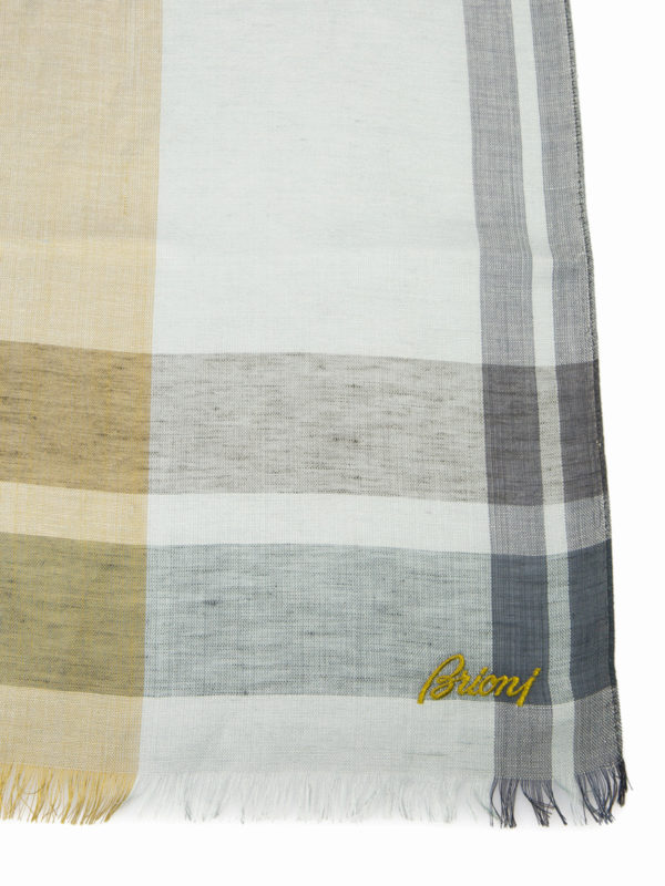 iKRIX BRIONI: scarves - Two-tone check scarf