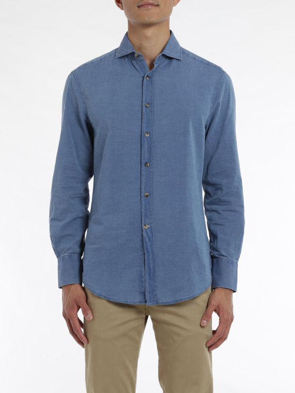 iKRIX Brunello Cucinelli: shirts - Denim cotton shirt