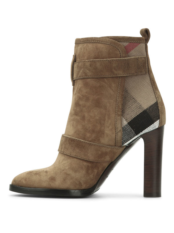 iKRIX Burberry: ankle boots - Suede ankle boots