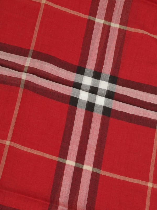 iKRIX Burberry: scarves - Check Wool Silk Scarf