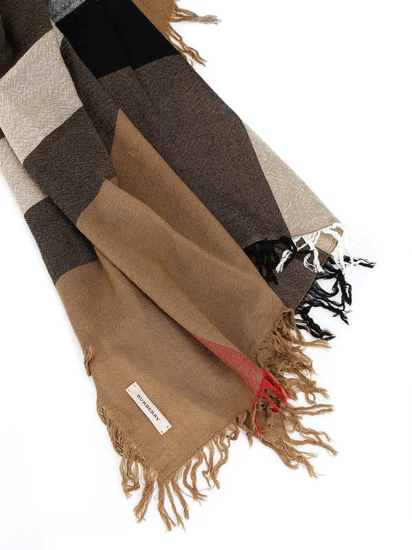 iKRIX Burberry: Stoles & Shawls - Check Wool Scarf House Check