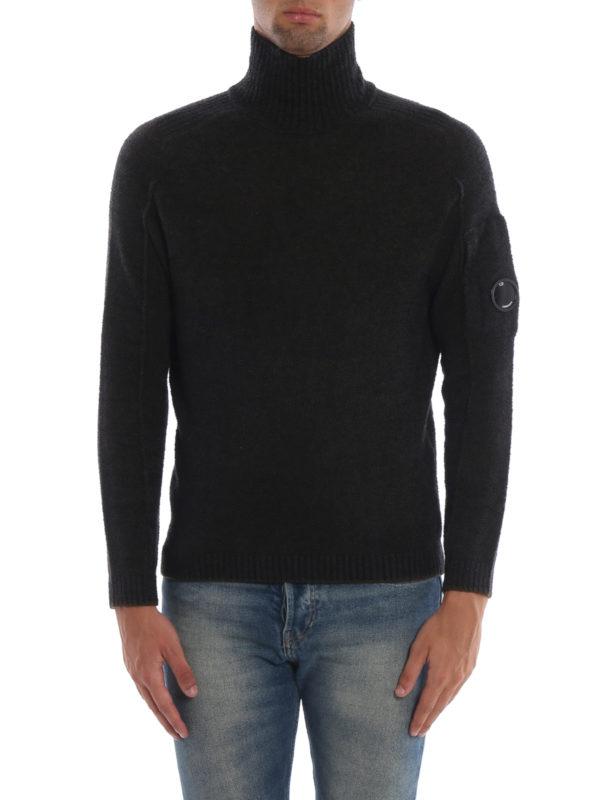 iKRIX CP COMPANY: Turtlenecks & Polo necks - Melange green Lens wool blend knit sweater