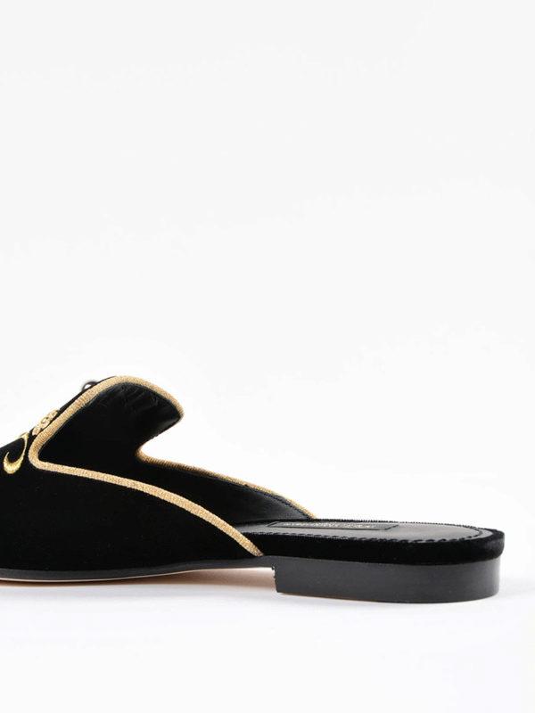 iKRIX Dolce & Gabbana: Mokassins und Slippers - Slippers - Schwarz