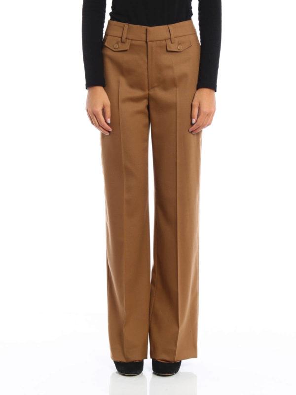 iKRIX Dondup: casual trousers - Palace wool palazzo trousers