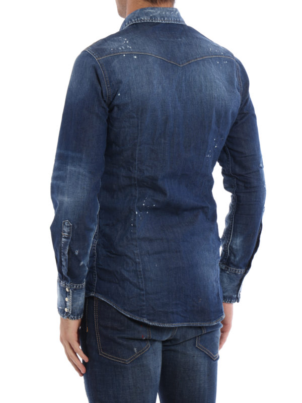iKRIX Dsquared2: Hemden - Hemd - Dark Wash