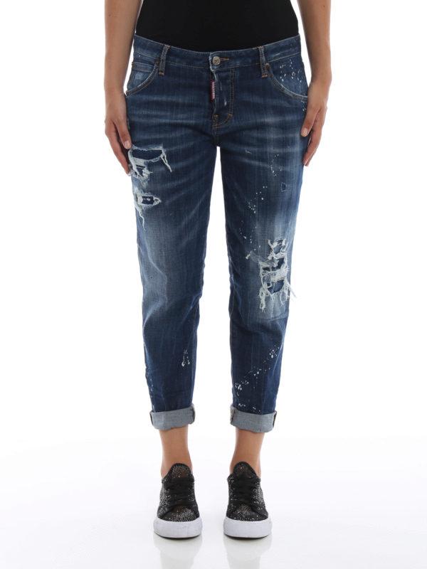 iKRIX DSQUARED2: Skinny Jeans - Skinny Jeans - Dunkles Jeansblau
