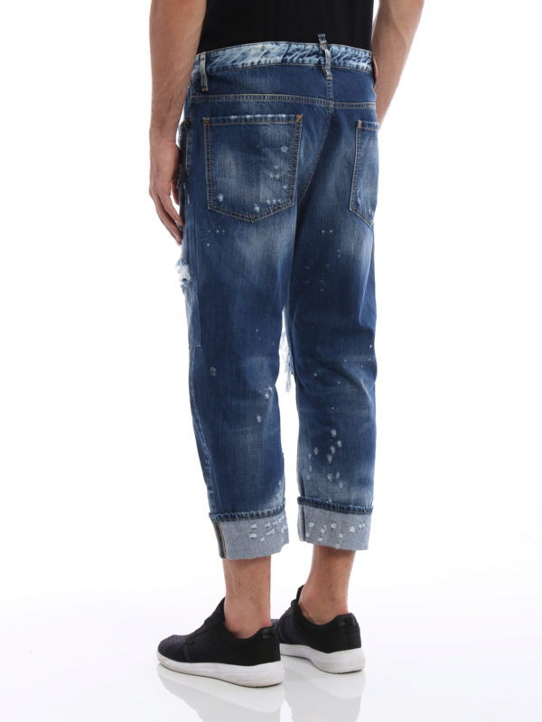 iKRIX Dsquared2: Straight Leg Jeans - Straight Leg Jeans - Light Wash