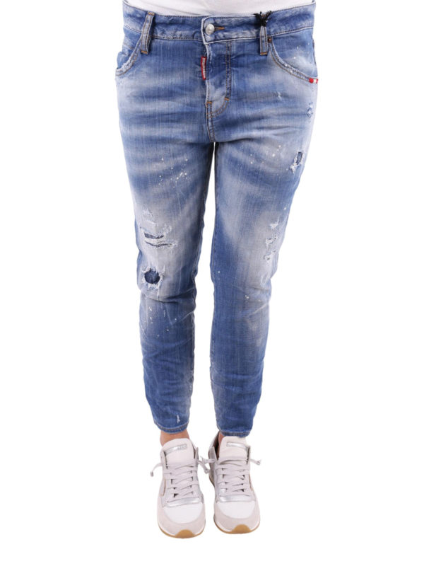 iKRIX DSQUARED2: Straight Leg Jeans - Cool Girl Cropped