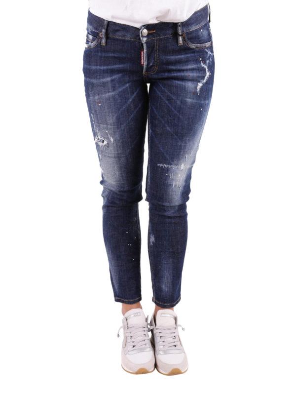 iKRIX DSQUARED2: Straight Leg Jeans - Jennifer Cropped