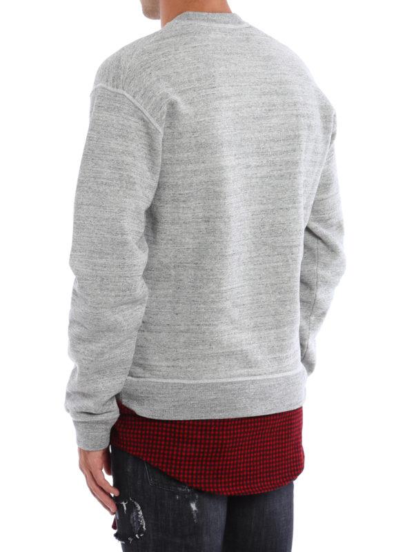 4c582026391c15 iKRIX DSQUARED2: Felpe e maglie - Felpa in cotone con inserto in lana