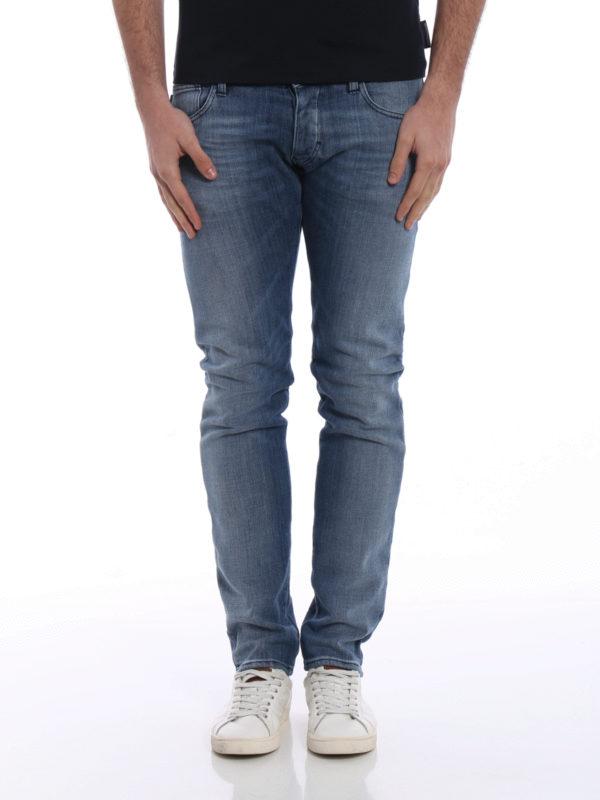 b624d229c1 Emporio Armani - J 20 extra slim stone washed jeans - skinny jeans ...