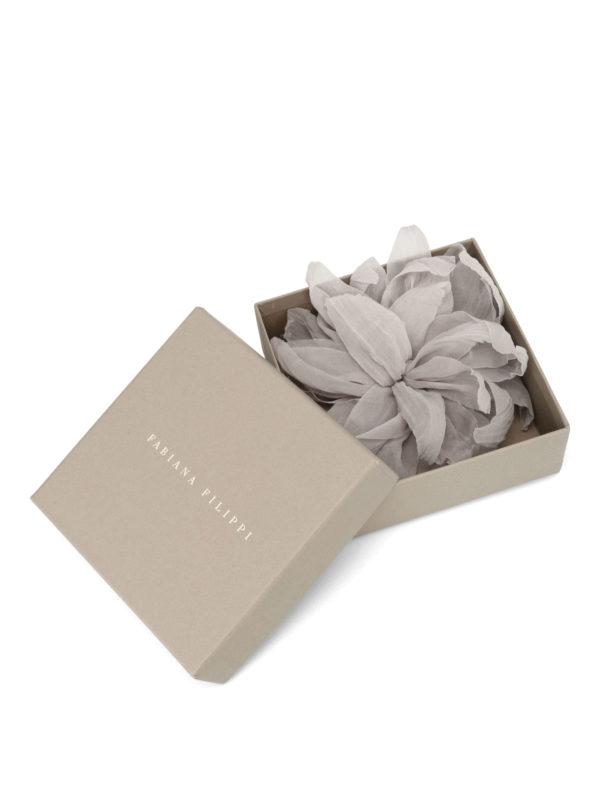iKRIX FABIANA FILIPPI: Brooches - Silk chiffon flower brooch