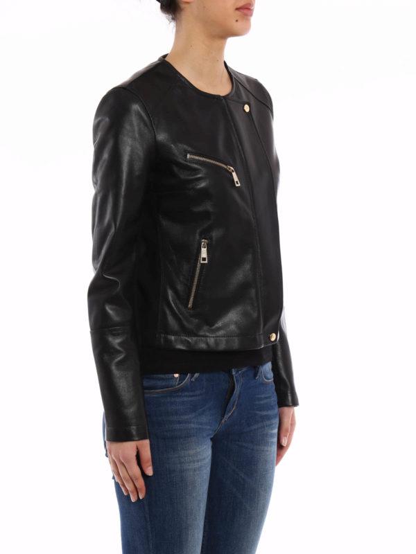 iKRIX FAY: leather jacket - Leather and jersey jacket