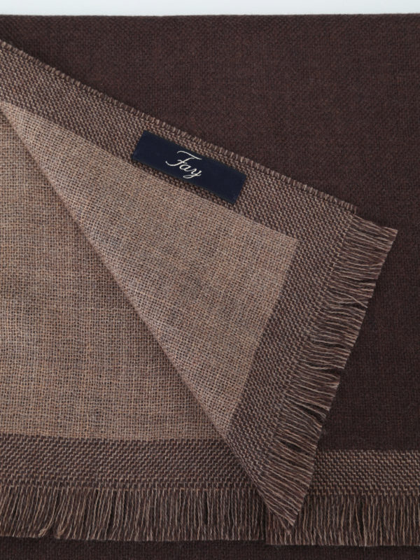 iKRIX FAY: scarves - Chocolate brown basic wool scarf