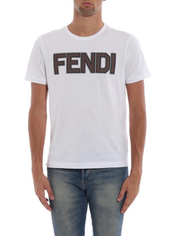 iKRIX FENDI: T-shirts - T-Shirt - Weiß