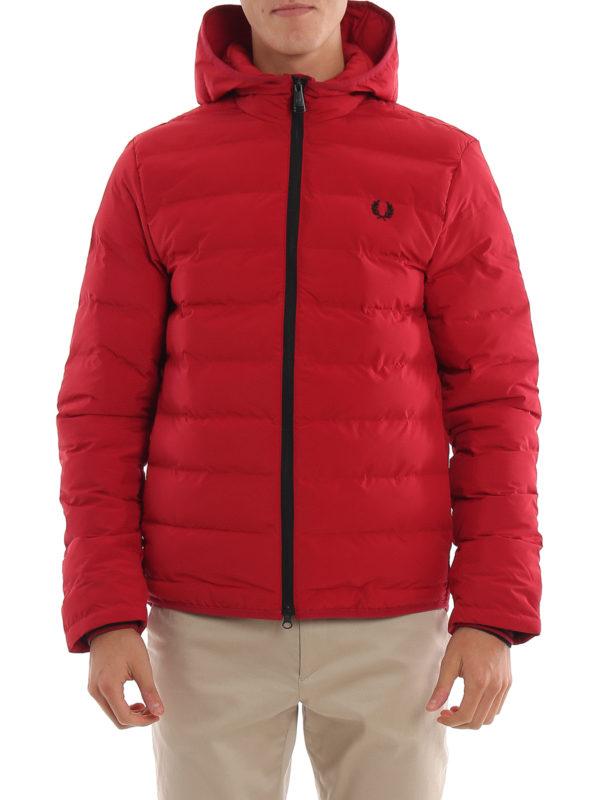 new style 3c9ff b0dcc Fred Perry - Piumino trapuntato con cappuccio - giacche ...