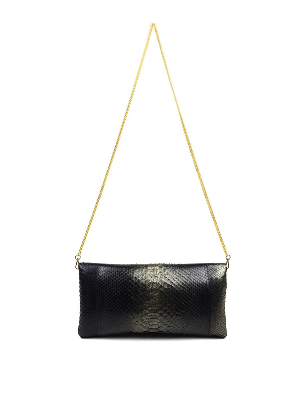 iKRIX Ghibli: shoulder bags - Python leather clutch with Swarovski crystals
