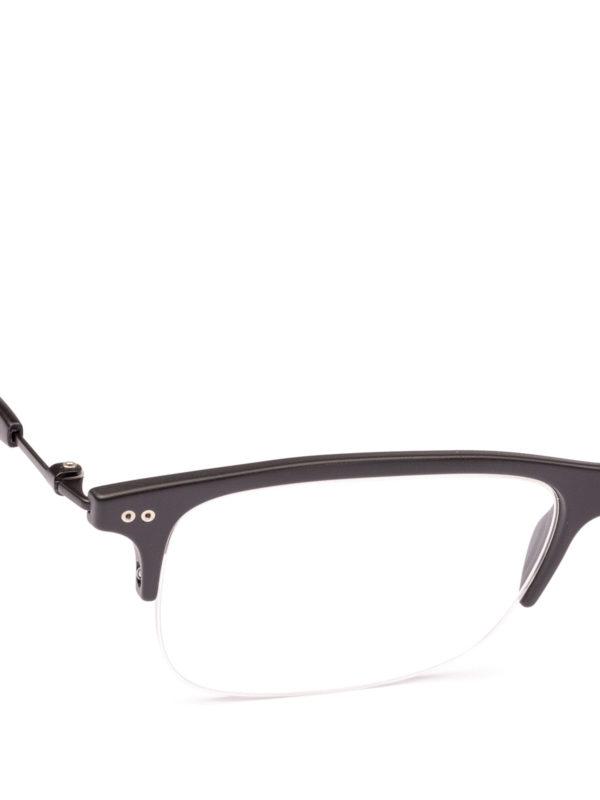 iKRIX GIORGIO ARMANI: Glasses - Black half frame rectangular eyeglasses