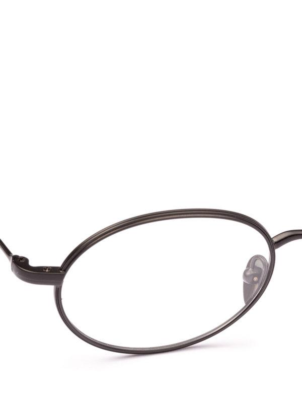 iKRIX GIORGIO ARMANI: Glasses - Black slender frame oval eyeglasses