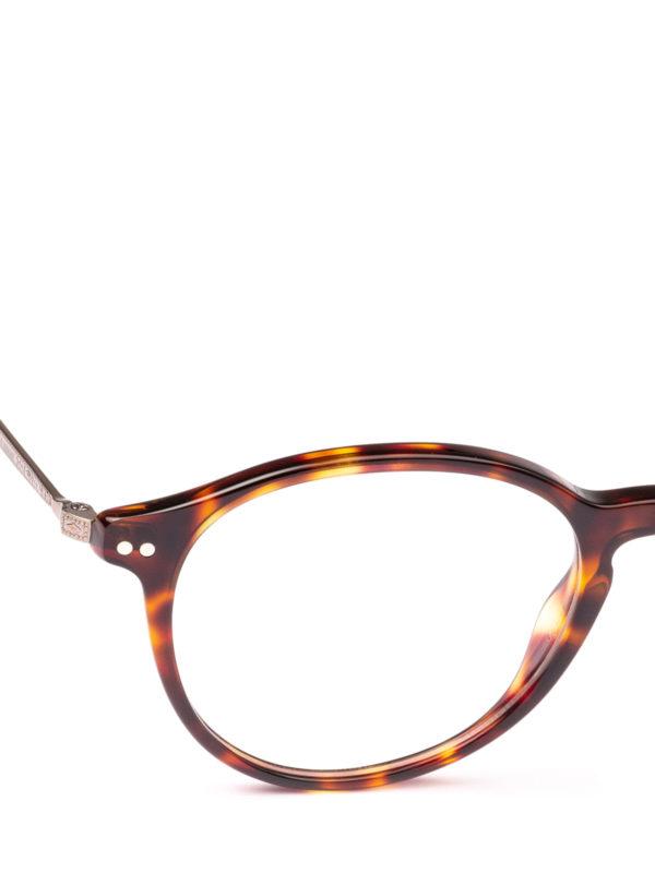 iKRIX GIORGIO ARMANI: Glasses - Havana acetate panto eyeglasses