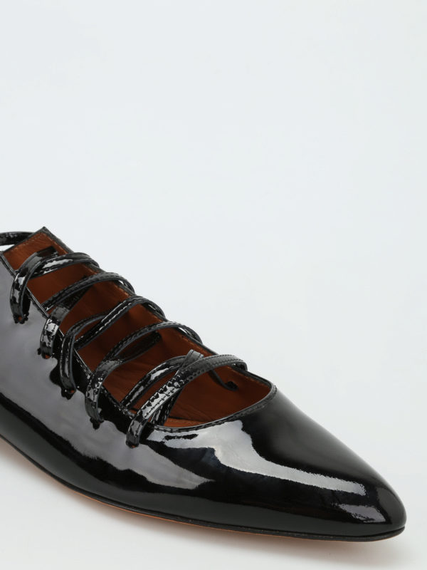 lace up patent leather ballerinas by givenchy flat shoes