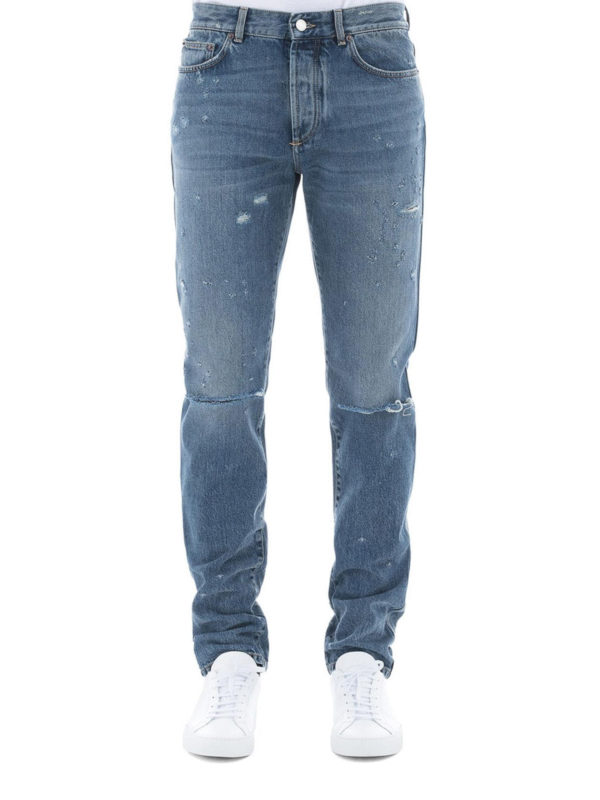 iKRIX GIVENCHY: Straight Leg Jeans - Straight Leg Jeans - Slim Fit