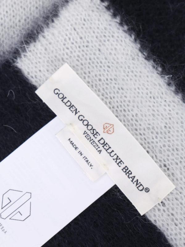 iKRIX GOLDEN GOOSE: scarves - Fluffy mohair blend striped scarf