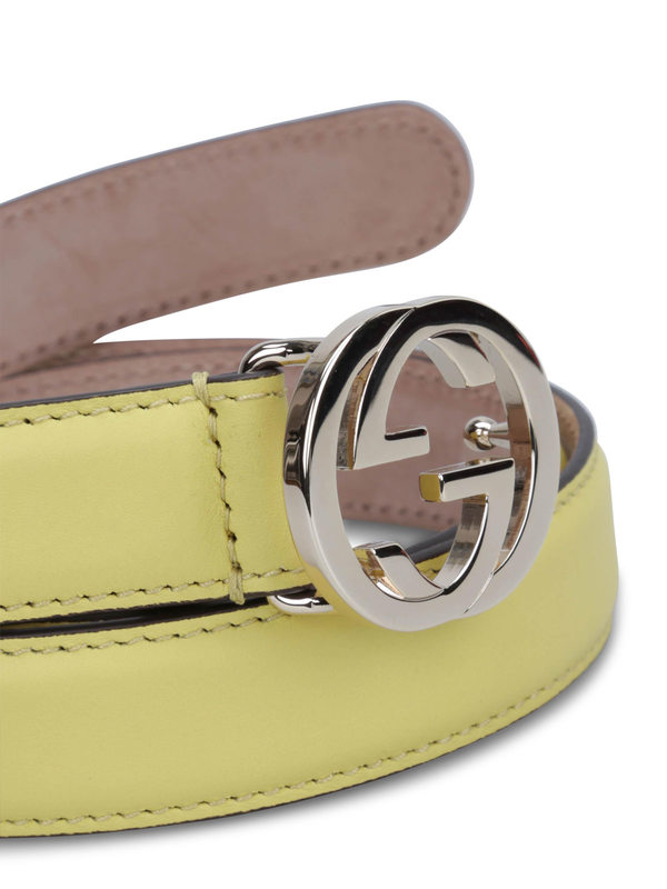 iKRIX Gucci: belts - GG buckle leather belt