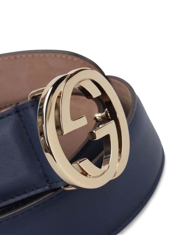 iKRIX GUCCI: belts - GG buckle leather belt